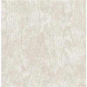 Papier peint non encollé et non tissé Annecy Brewster Essentials d'Advantage, motif abstrait, 56,4 pi², beige