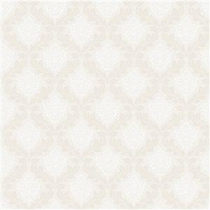 Papier peint non encollé et non tissé Windsor Brewster Essentials d'Advantage, motif géométrique, 56,4 pi², blanc cassé