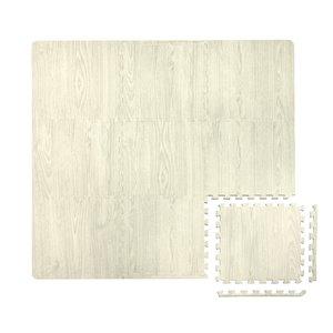 Tuile de mousse emboîtable White Oak de FloorPops, intérieur, 3 pi x 3 pi, gris pâle
