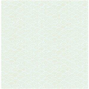 Papier peint non encollé et non tissé Sandur Brewster Essentials d'Advantage, motif géométrique, 56,4 pi², beige