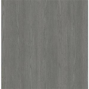 Papier peint non encollé et non tissé Brest Brewster Essentials d'Advantage, effet bois, 56,4 pi², gris anthracite