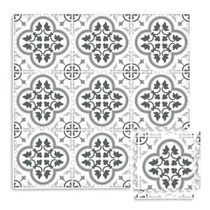 Tuile de mousse emboîtable Hamal de FloorPops, intérieur, 3 pi x 3 pi, gris