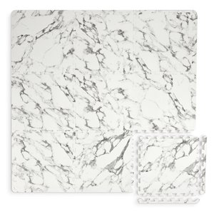 Tuile de mousse emboîtable Athena de FloorPops, intérieur, 3 pi x 3 pi, blanc et gris