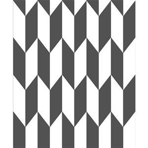 Papier peint non encollé et non tissé Roland Geo d'Advantage, motif géométrique, 56,4 pi², noir