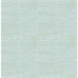 Papier peint non encollé et non tissé Chartres Brewster Essentials d'Advantage, motif abstrait, 56,4 pi², bleu vert