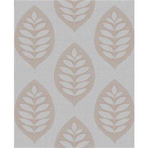 Papier peint non encollé et non tissé Harstad Brewster Essentials d'Advantage, motif de lierre, 56,4 pi², gris