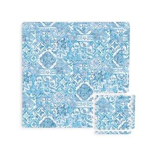 Tuile de mousse emboîtable Belize de FloorPops, intérieur, 3 pi x 3pi, bleu