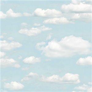 Papier peint non encollé et non tissé Bath Brewster Essentials d'Advantage, 56,4 pi², bleu