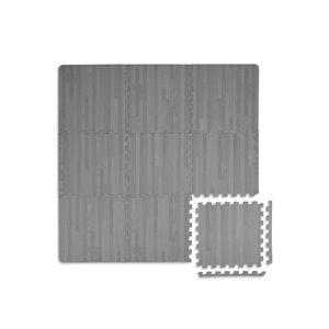 Tuile de mousse emboîtable Manor de FloorPops, intérieur, 3 pi x 3 pi, gris