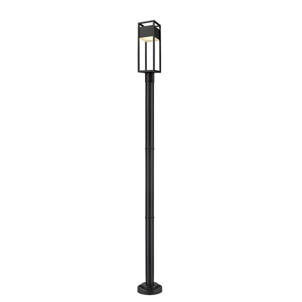 Z-Lite Barwick 95-in x 9-in Black Hardwired Incandescent Complete Post Light
