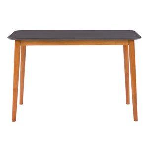 Table de salle à manger fixe rectangulaire Alpine avec plateau en bois d'ingénierie finition deux tons de CorLiving, cerise/gr
