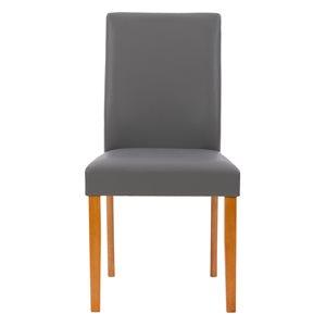 Chaises de salle à manger Alpine en faux cuir et armature de bois par CorLiving, lot de 2, cerise/gris