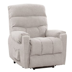 CorLiving Dallas Contemporary/Modern Synthetic Chenille Fabric Recliner - Beige