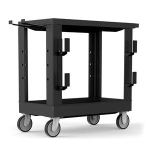 Chariot utilitaire industriel robuste de Luxor, 33,5 po, noir