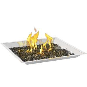 Ensemble d'installation de brûleur linéaire en acier inoxydable de Napoléon, 24 po, topaze