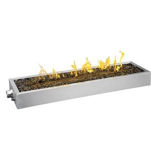Ensemble d'installation de brûleur linéaire en acier inoxydable de Napoléon, 48 po, topaze