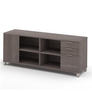 Bahut à 3 tiroirs Pro-Linea de Bestar, 71,1 po, gris écorce
