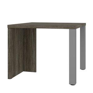 Table basse rectangulaire Lucida de Bestar, 19 po x 24 po, gris boisé