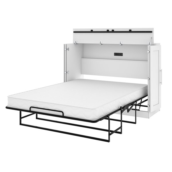 Bestar Pur Murphy Bed with Mattress - Full - White