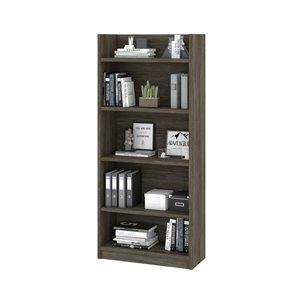 Bibliothèque standard à 5 tablettes Pro-Linea de Bestar, 67,7 po x 29,9 po, gris boisé