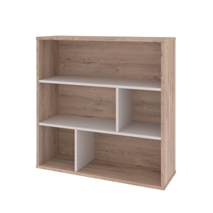 Bibliothèque standard à 3 tablettes, Fom de Bestar, 35,6 po x 35,4 po, brun rustique/grès