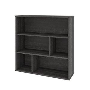 Bibliothèque standard à 3 tablettes, Fom de Bestar, 35,6 po x 35,4 po, gris écorce