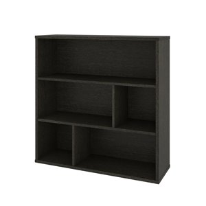 Bestar Fom 3-Shelf Standard Bookcase - 35.6-in x 35.4-in - Deep Grey
