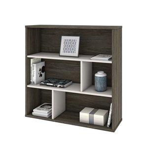 Bibliothèque standard à 3 tablettes, Fom de Bestar, 35,6 po x 35,4 po, gris boisé