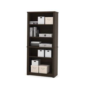 Bibliothèque standard à 5 tablettes Embassy de Bestar, 66,8 po x 30,8 po, chocolat noir