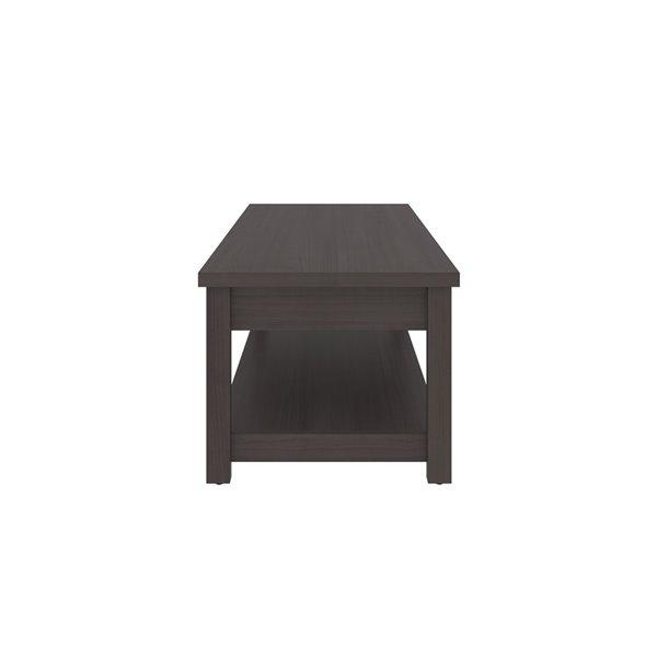 Table à café Isida de Bestar, 18 po x 43 po, gris orage