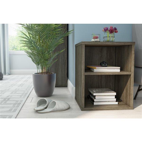 Table d'appoint rectangulaire Fom de Bestar, 33 po x 15 po, gris boisé