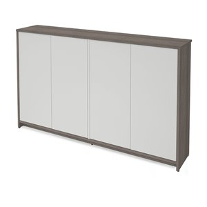 Bestar Krom Storage Cabinet - 36-in x 60-in - Bark Grey/White