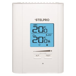 Stelpro 45900-T/R - CABLES Single Programming Electronic Thermostat - 120-240 V/5 MA