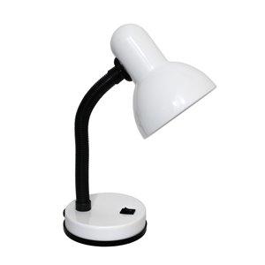 Lampe de bureau avec col flexible de Simple Designs, 13,85 po, blanc