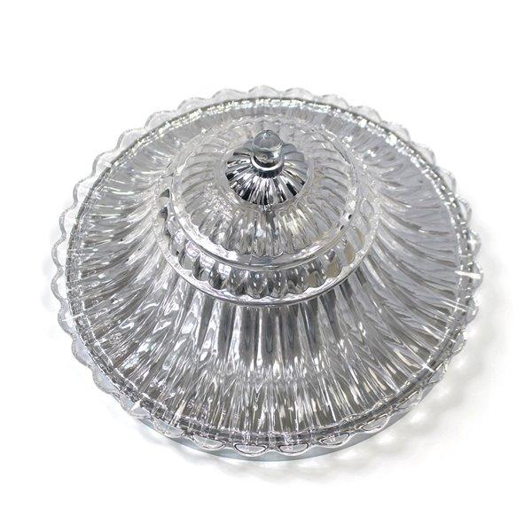 Plafonnier en verre à 2 ampoules glacier de Elegant Designs, chrome