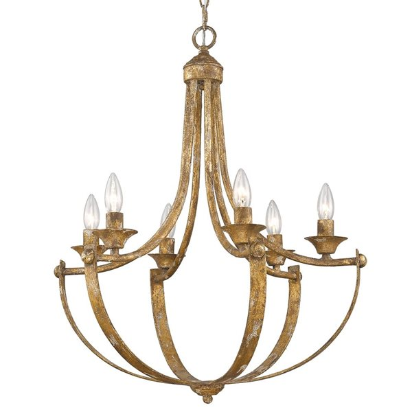 Golden Lighting Victoria 6 Light, How To Take Down Old Chandelier