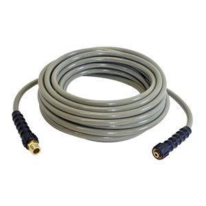 Boyau d'extension/de remplacement pour nettoyeur à haute pression de Simpson, 5/16 po x 40 pi x 3700 lb/po², gris