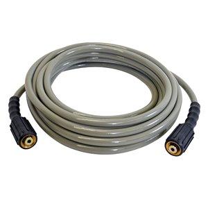 Boyau d'extension/de remplacement pour nettoyeur à haute pression Morflex de Simpson, 1/4 po x 25 pi x 3300 lb/po², gris