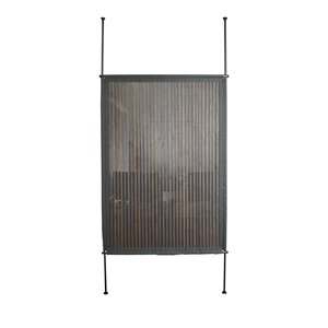 Panneau d'intimité Versailles Home Fashions, bambou, 48 po x 68 po, gris