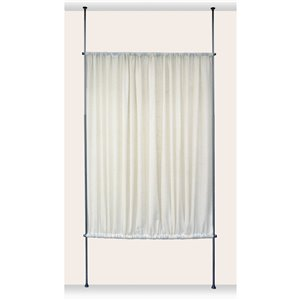 Panneau d'intimité Versailles Home Fashions, simili lin, 48 po  x 72 po, blanc