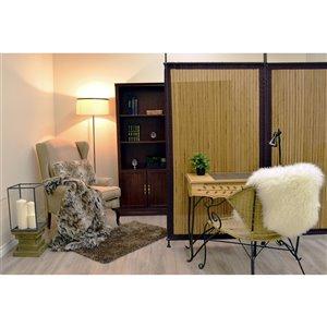 Panneau d'intimité Versailles Home Fashions, bambou, 38 po x 68 po, brun
