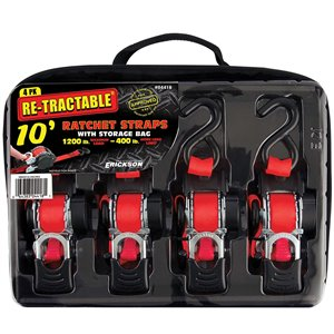 Erickson Retractable Ratchet and Bag - 4-Pack - 10 ft.