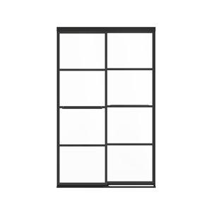 Porte de douche coulissante à demi-cadre Incognito Shaker par MAAX, 76 po x 44 po à 47 po, noir mat