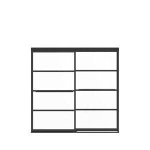 Porte de baignoire coulissante à demi-cadre Incognito Shaker par MAAX, 57 po x 56 po à 59 po, noir mat