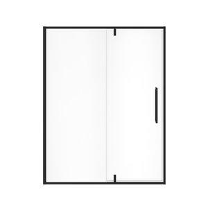 Porte de douche à pivot à demi-cadre UpTown par MAAX, 76 po x 57 po à 59 po, noir mat