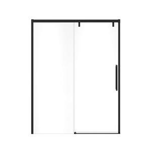 Porte de douche coulissante à demi-cadre UpTown par MAAX, 76 po x 56 po à 59 po, noir mat