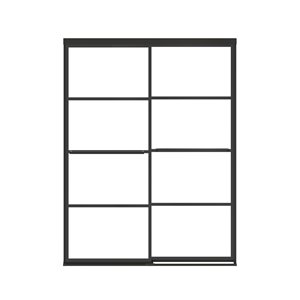 MAAX Incognito Shaker Semi-frameless Bypass/Sliding Shower Door - 76-in x 56-in to 59-in - Matte Black
