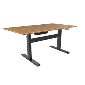 Table pour bureau d'United Canada moderne contemporain ajustable, 60po, brun brillant