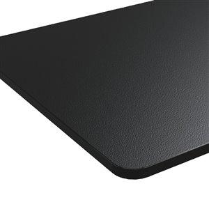 Table pour bureau d'United Canada moderne contemporain ajustable, 60po, noir mat