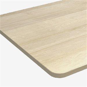 Table pour bureau d'United Canada moderne contemporain ajustable, 30po, brun mat
